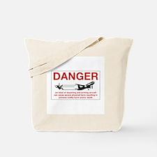Danger Jet Blast, Netherlands Antilles Tote Bag