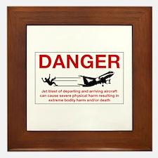 Danger Jet Blast, Netherlands Antilles Framed Tile