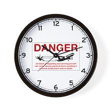 Danger Jet Blast, Netherlands Antilles Wall Clock