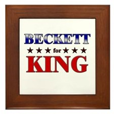 BECKETT for king Framed Tile