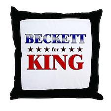 BECKETT for king Throw Pillow