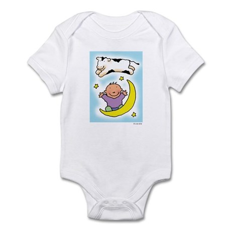 cow jumping over the baby Infant Bodysuit
