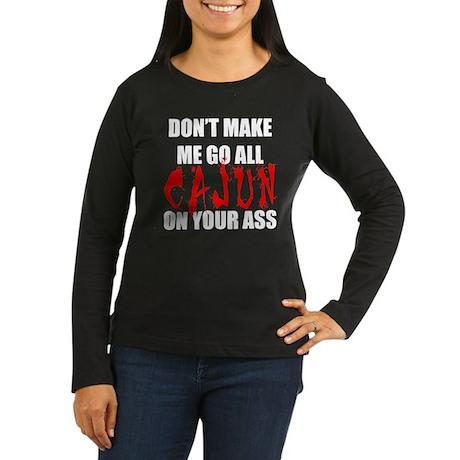 All Cajun Women's Long Sleeve Dark T-Shirt