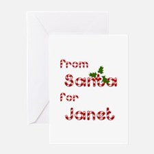 From Santa For Janet Greeting Card