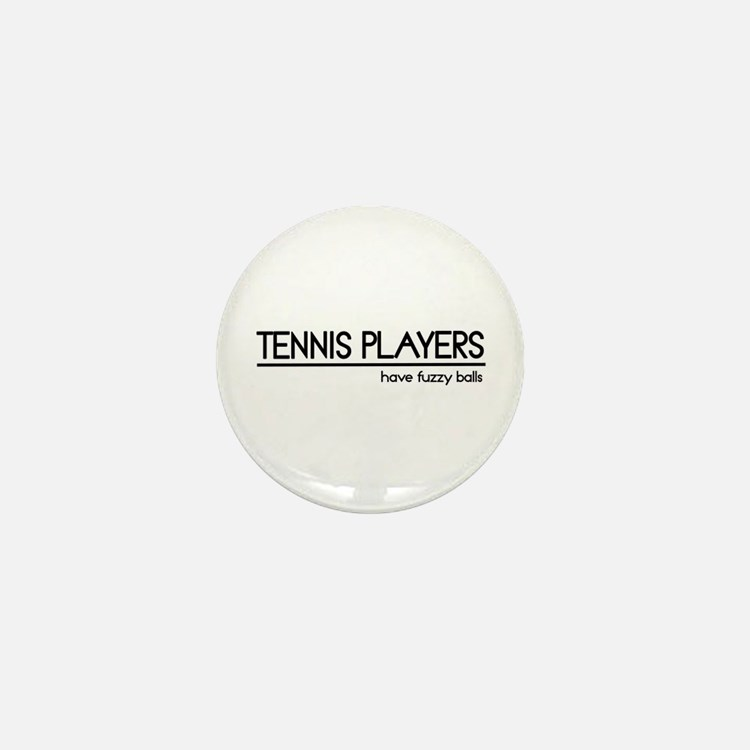 Tennis Player Joke Mini Button