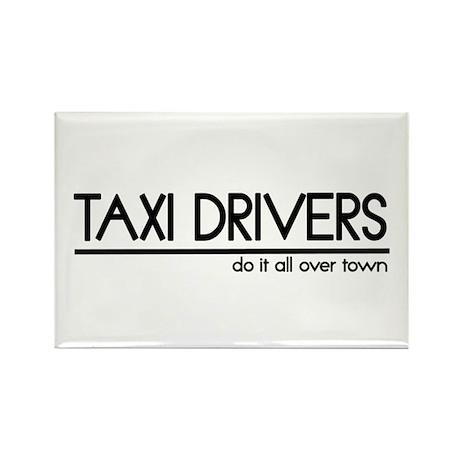 Taxi Driver Joke Rectangle Magnet