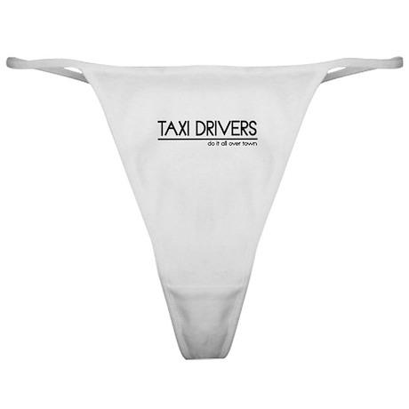 Taxi Driver Joke Classic Thong