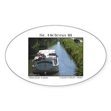 St. Helena III Oval Decal