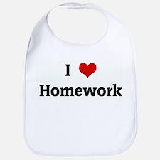 I Love Homework Bib