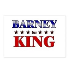 BARNEY for king Postcards (Package of 8)