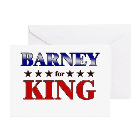 BARNEY for king Greeting Cards (Pk of 10)