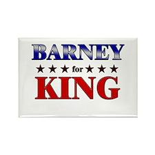 BARNEY for king Rectangle Magnet