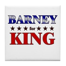 BARNEY for king Tile Coaster