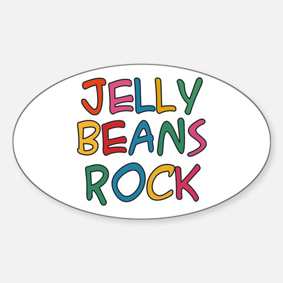 Jelly Beans Rock Oval Decal