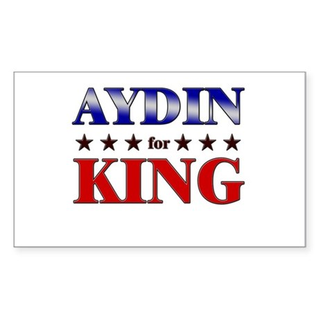 AYDIN for king Rectangle Sticker