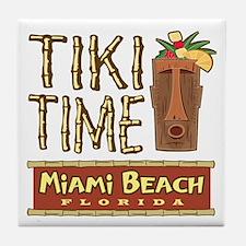 Miami Beach Tiki Time - Tile Coaster