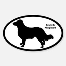 English Shepherd Silhouette Decal