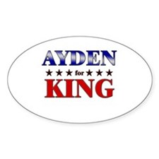 AYDEN for king Oval Decal