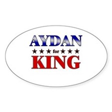 AYDAN for king Oval Decal