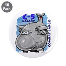 "C-5 Galaxy Combat Cargo 3.5"" Button (10 pack)"