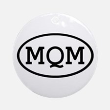 MQM Oval Ornament (Round)