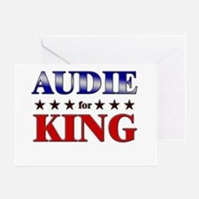 AUDIE for king Greeting Card