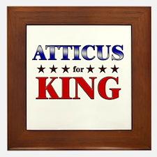 ATTICUS for king Framed Tile