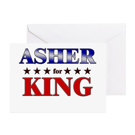 ASHER for king Greeting Cards (Pk of 20)
