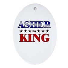 ASHER for king Oval Ornament