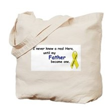 my fathers a hero Tote Bag
