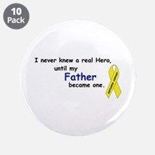 "my fathers a hero 3.5"" Button (10 pack)"