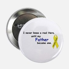 """my fathers a hero 2.25"""" Button"""