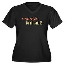 Chaotic brilliant Women's Plus Size V-Neck Dark T-
