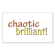 Chaotic brilliant Rectangle Decal