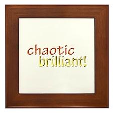 Chaotic brilliant Framed Tile