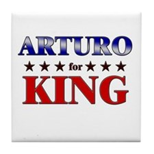 ARTURO for king Tile Coaster