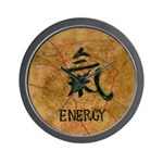 Wall Clock with chinese symbol for energy