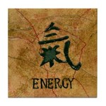 Tile Coaster with chinese symbol for energy