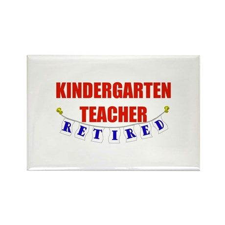 Retired Kindergarten Teacher Rectangle Magnet (10