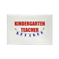 Retired Kindergarten Teacher Rectangle Magnet (100