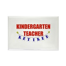 Retired Kindergarten Teacher Rectangle Magnet