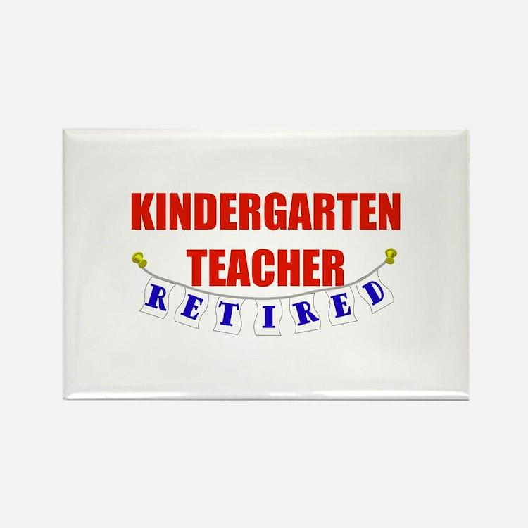 Retired Kindergarten Teacher Rectangle Magnet