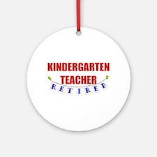 Retired Kindergarten Teacher Ornament (Round)