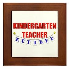 Retired Kindergarten Teacher Framed Tile