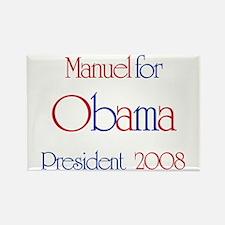 Manuel for Obama 2008 Rectangle Magnet