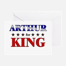 ARTHUR for king Greeting Card