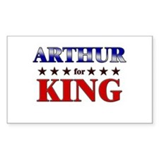 ARTHUR for king Rectangle Decal