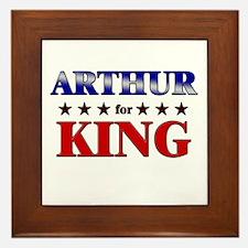 ARTHUR for king Framed Tile