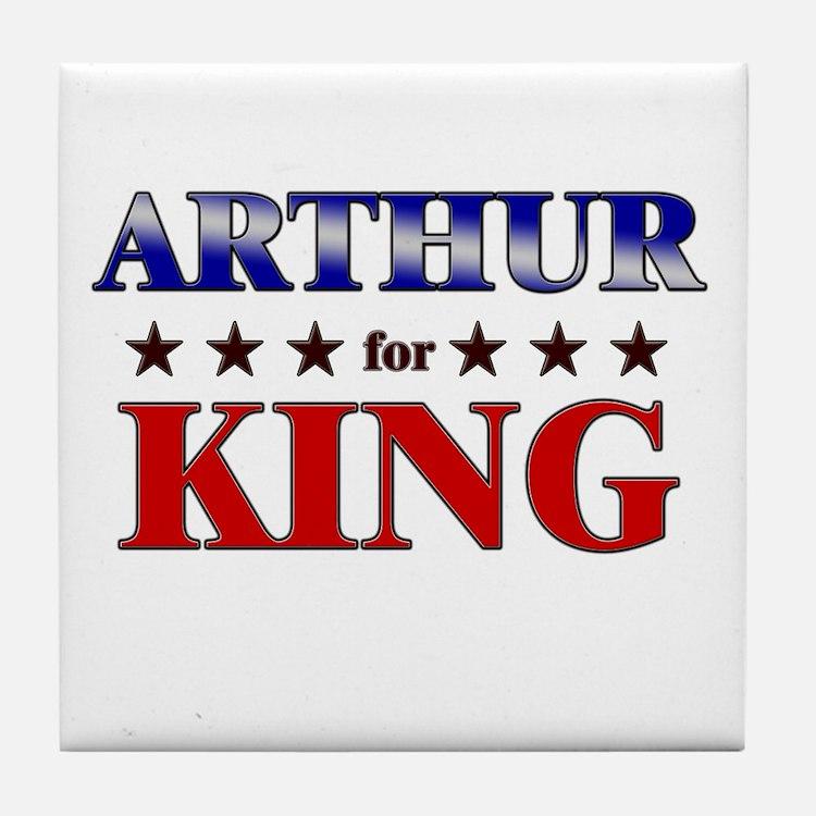 ARTHUR for king Tile Coaster