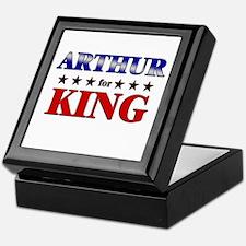 ARTHUR for king Keepsake Box